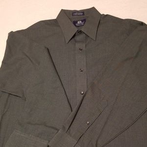 Stafford 16 1/2 wrinkle free button up